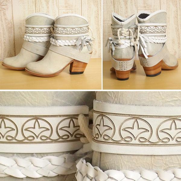 ★SOLD OUT★格雷斯歐陸式長筒靴GRACE CONTINENTAL西部長筒靴皮革短長筒靴女士郵購2015SS