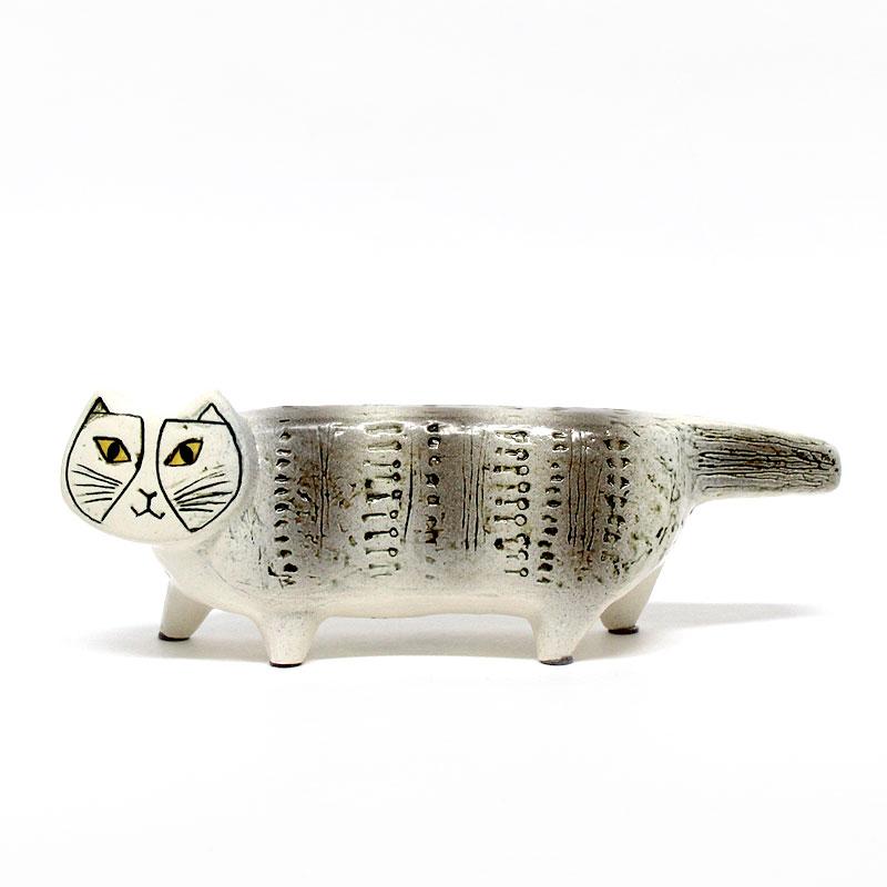 マイキーのパパ / 名前はマックス / グレー / Lisa Larson リサ・ラーソン / オブジェ 置物 陶器 猫 ねこ ネコ 正規輸入品 papa 灰色