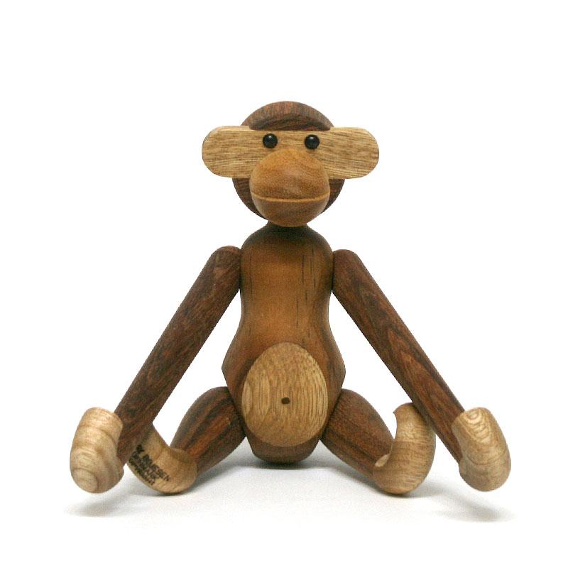 モンキー S / KAY BOJESEN DENMARK カイ・ボイスン デンマーク / インテリア 雑貨 北欧雑貨 木 動物 猿 さる オブジェ おもちゃ コートフック カイボイスン