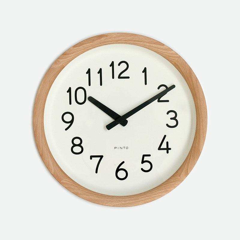 【クーポン800円あり】Day To Day Clock / ナチュラル / Lemnos レムノス 壁掛け時計 シンプル 木製 紙 PINTO