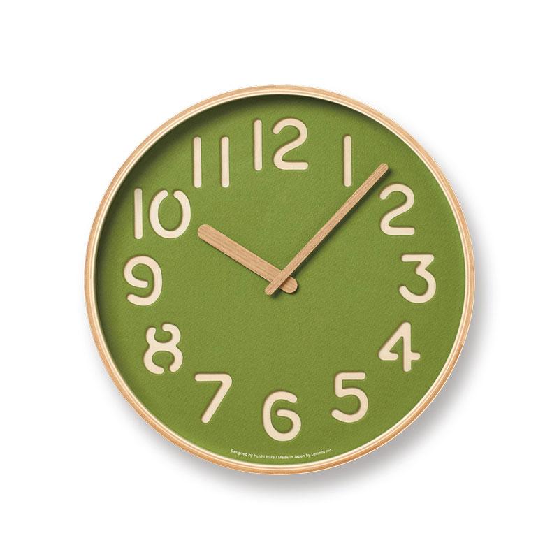 【クーポン800円あり】THOMSON PAPER / トムソンペーパー / グリーン / NY16-09 GN / Lemnos レムノス 壁掛け時計 シンプル 木製 紙 奈良雄一