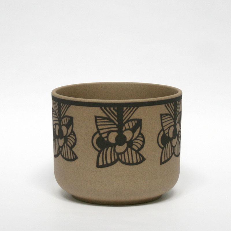 flora red stripe flower / 鉢カバー / 波佐見焼 西山陶器 / Lisa Larson リサ・ラーソン / フローラ レッド ストライプ フラワーベース 花器 花瓶 オブジェ 陶器 北欧 ブラウン