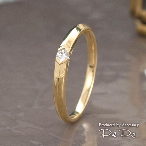 K18イエローゴールド ダイヤモンド0.06ct リング[5711340103]