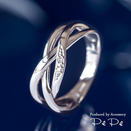 プラチナ900 ダイヤモンド合計0.01ct リング(7~17号)[6211140202]