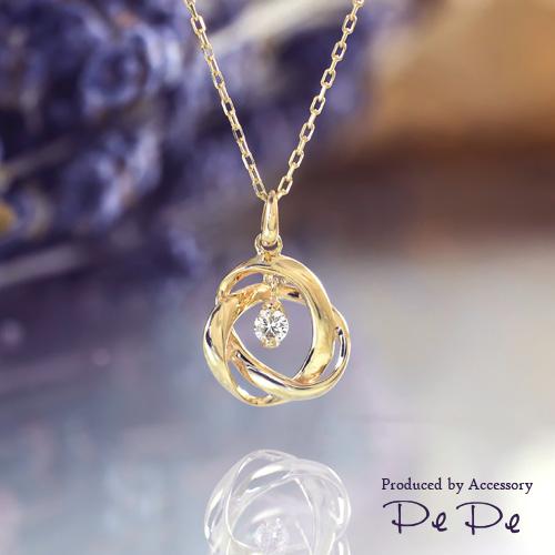 K10イエローゴールド ダイヤモンド0.06ct ネックレス[6321340101], クナシリグン:a0691286 --- reisotel.com