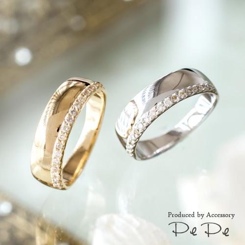 K10(イエローゴールド・ホワイトゴールド) ダイヤモンド合計0.08ct ピンキーリング[0612340202-0612240204], マスタークロコダイル 財布 バッグ:a8204f3b --- reisotel.com