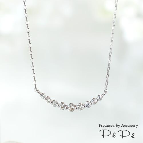 プラチナ ダイヤモンド合計0.3ct ネックレス[4221140203]