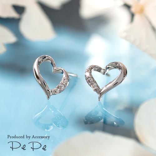 プラチナ900プラチナ900 ダイヤモンド合計0.04ct ピアス(ハート)[5751140204], 平野商店:51a783f0 --- reisotel.com