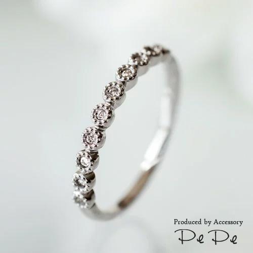 【特別な日に…10石×ダイヤモンドのオーダーリング】K10・K18・プラチナ900[6311140203]