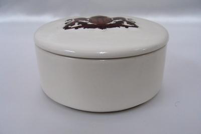 小物入れにもかわいい陶器製です 贈り物 キャンディーボックス 茶 新作販売