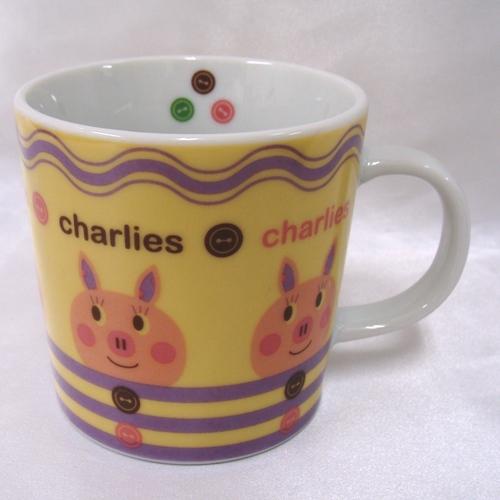 可愛いアニマルキャラクター 爆安 Charlies陶器マグカップ 高価値