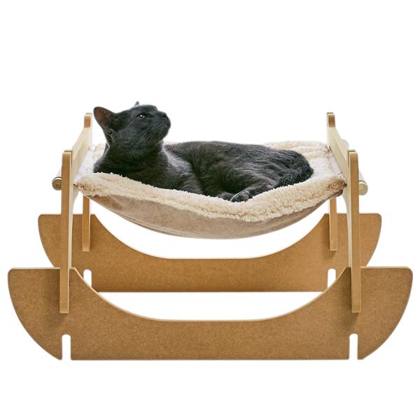 リバーシブルハンモック 1個 猫 ベッド ペピイオリジナル 2017秋冬