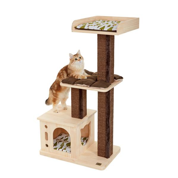 森のキャットツリー サン 猫 キャットタワー 猫タワー 据え置き 木製 シンプル おしゃれ インテリア ペット ペピイ PEPPY