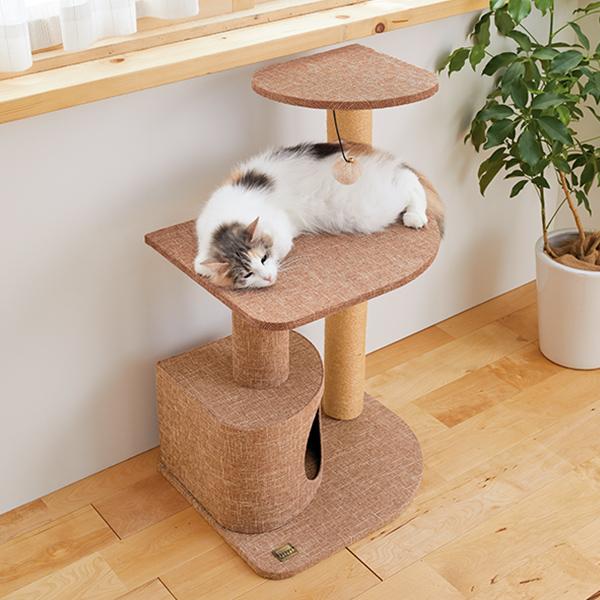窓辺でお昼寝タワー 猫 ねこ キャットタワー 猫タワー スリム 省スペース シンプル インテリア おしゃれ ペット ペピイ PEPPY