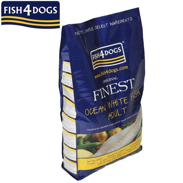 犬 餌 ごはん イギリス PEPPY 送料無料(一部地域を除く) ペピイ フィッシュ4ドッグ 成犬用 ドッグフード お値打ち価格で 白身魚 小粒 アダルト オーシャンホワイトフィッシュ 12kg
