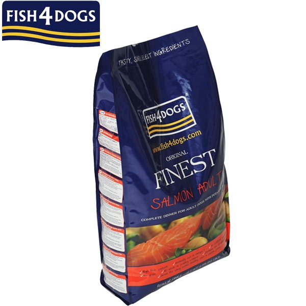 フィッシュ4ドッグ サーモン 成犬用 小粒 12kg ドッグフード 魚肉 アダルト