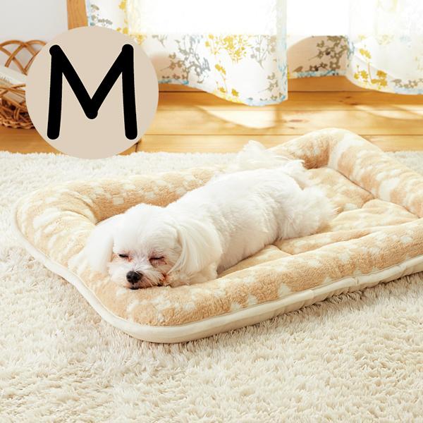 オーガニックコットン2層マット M 犬 猫 マット ベッド 丸洗い ふかふか かわいい ピンク ベージュ 国産 安全 あご乗せ ペピイ PEPPY