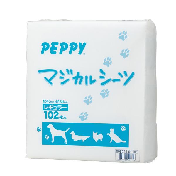 マジカルシーツ 中厚型 スーパーワイド 24枚×8個 ペットシーツ 国産 トイレシート 犬 猫 消臭 吸収 日本産 PEPPY ペピイ