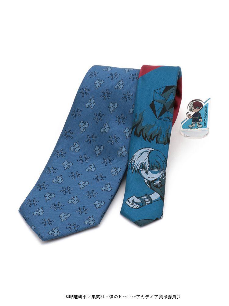 ネクタイ 僕のヒーローアカデミア 轟焦凍 ネクタイ登場 プレゼントにもおすすめ TVアニメ ブルー アクリルスタンド付き 小柄 ショップ 人気ブランド