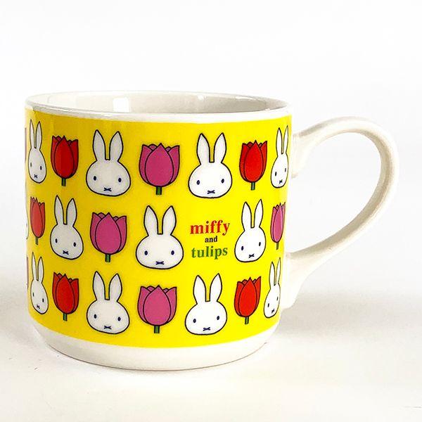 miffy tulips 春にぴったりのキッチン用品 ミッフィー チューリップ YE キッチン用品 マグ 未使用品 SALENEW大人気 黄色 マグカップ
