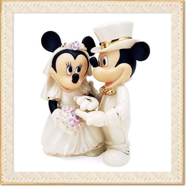 フィギュア ミッキーマウスミニーマウス 「ミニードリームウェディング 」 レノックス (米国)磁器製 取寄品3週間前後 sale 入園入学