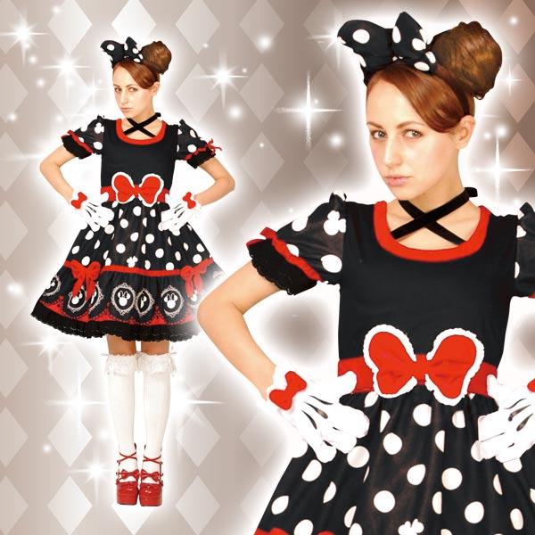ディズニー コスチューム 大人 ディズニー コスチューム 大人 女性用 ミニー ゴシック ワンピース デラックス 黒 仮装