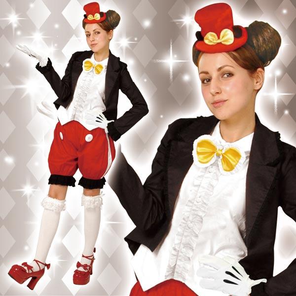 ディズニー コスチューム 大人 ディズニー コスチューム 大人 女性用 ミッキー ゴシック ジャケット かぼちゃパンツ デラックス 黒 仮装