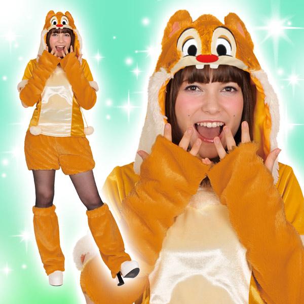 ディズニー コスチューム 大人 ディズニー コスチューム 大人 女性用 デール チップ&デール モコモコパンツ モコモコ 仮装 Disney