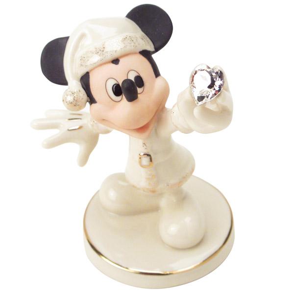 フィギュア ミッキーマウス 「ミッキーサンタクロース 」 レノックス (米国)磁器製 取寄品3週間前後