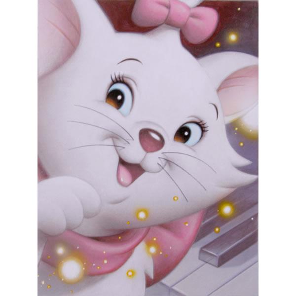 スタジオアート おしゃれキャットマリー 「SmileMarie 」by TsuneoSandaディズニー公認画家 世界限定数 150 取寄品3週間前後