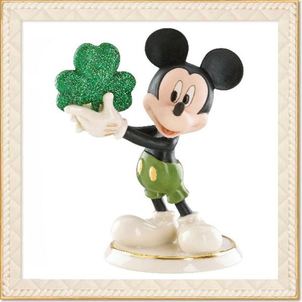フィギュア ミッキーマウス 「エリンゴーブラウミッキー 」 レノックス (米国)磁器製 取寄品3週間前後