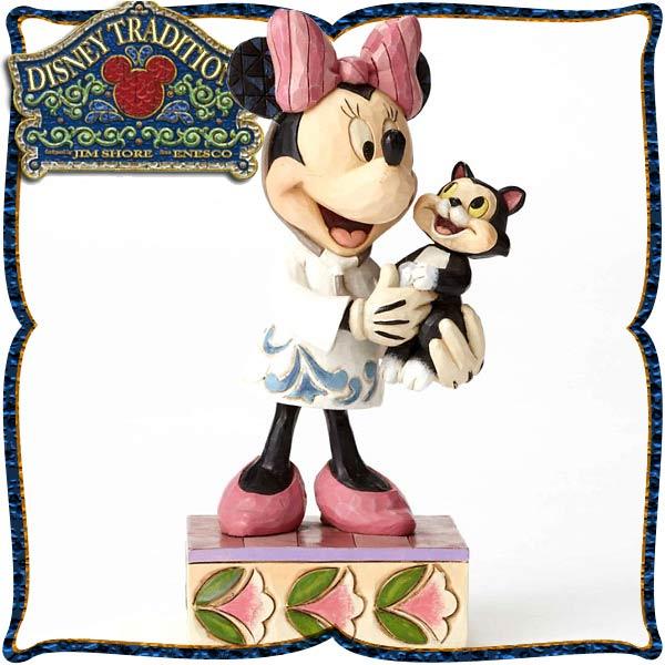 ディズニー 木彫り調フィギュア ミニーマウス 「Veterinarian Minnie」 獣医のミニー ディズニー・トラディション