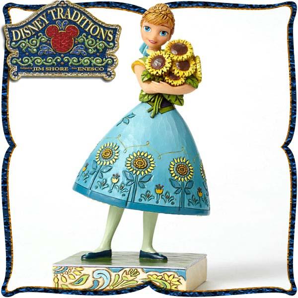 ディズニー プリンセス 木彫り調フィギュア アナ アナと雪の女王  「Anna from Frozen Fever」 ディズニー・トラディション