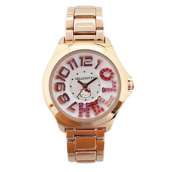 取寄品 休止 キャラクター ウォッチ腕時計 レディースピンクゴールド マルチストーンメタル ハローキティ80PXwONnk