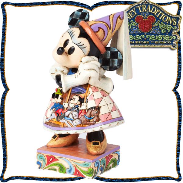 ディズニー 木彫り調フィギュア ミニーマウス 「プリンセスミニーの祈りのガウン」 ディズニー・トラディション