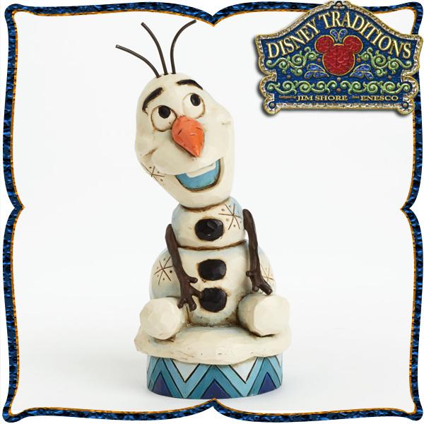 ディズニー 木彫り調フィギュア オラフ (アナと雪の女王) 「Olaf from FROZEN」 ディズニー・トラディション