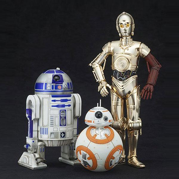 スター・ウォーズ R2-D2&C3PO with BB-8 フィギュア  3体セット ARTFX+ STAR WARS