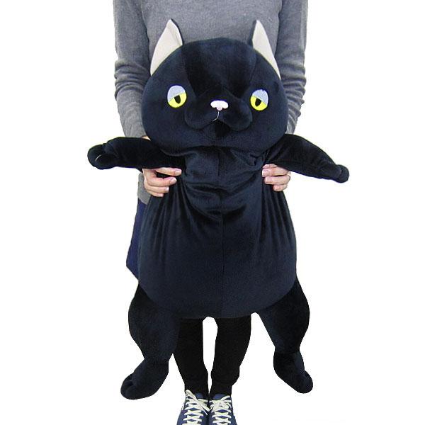 もちねこ ネコ 猫 黒猫  ぬいぐるみ XL クロ