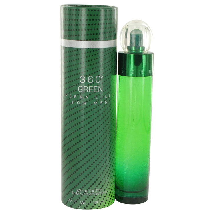 Perry Ellis 360 Green by 香水 人気 ブランド 送料無料 Eau 100 海外直送 宅配便送料無料 Spray ml 限定特価 3.4 Toilette Men De oz