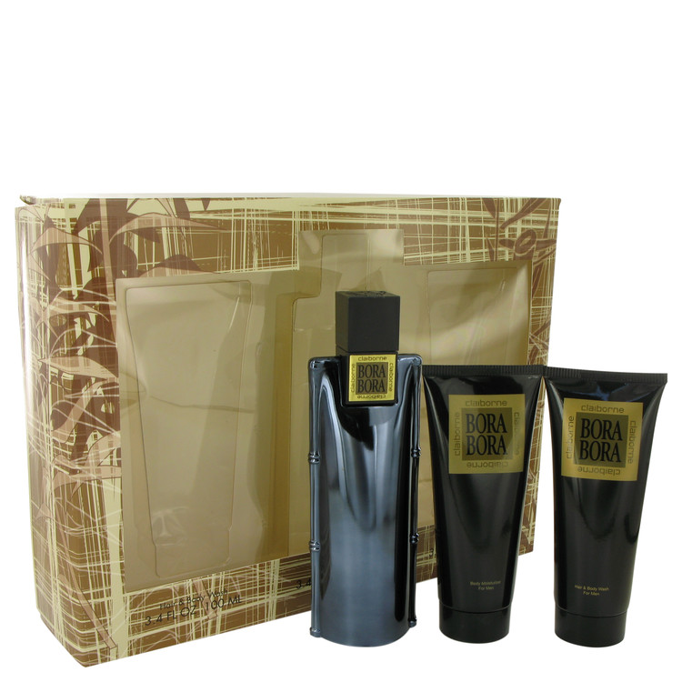 Bora by 格安 Liz Claiborne 高級 香水 人気 ブランド 送料無料 Gift Set 3.4 + Wash Cologne M oz Hair Moisturizer Body 海外直送 Spray