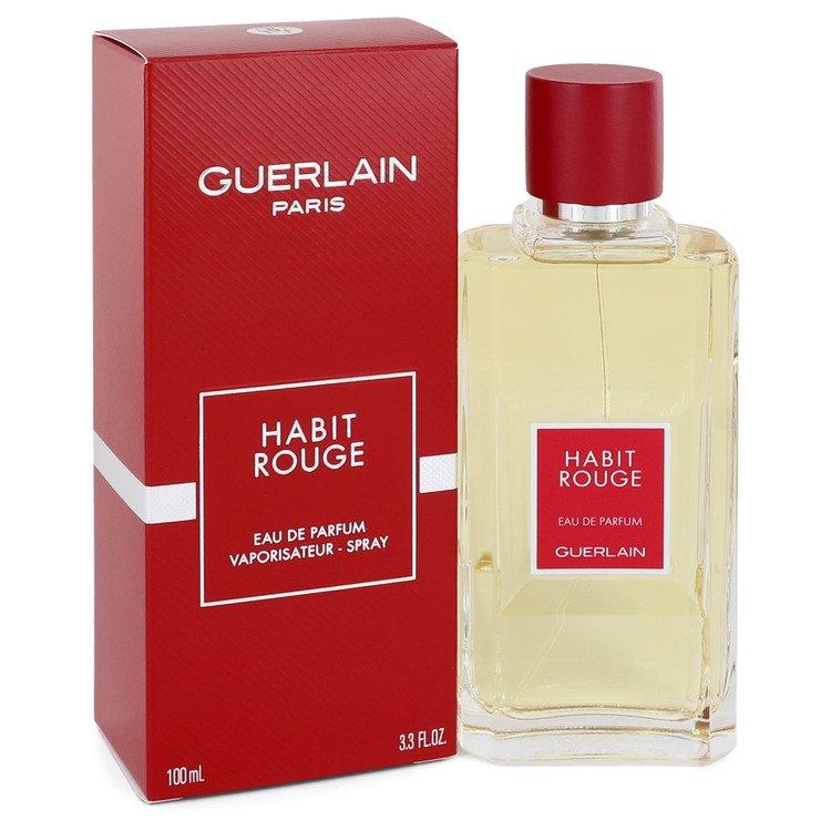 低価格化 HABIT ROUGE by Guerlain 香水 信託 人気 ブランド 送料無料 Eau Spray oz 3.3 100 De Parfum 海外直送 ml Men