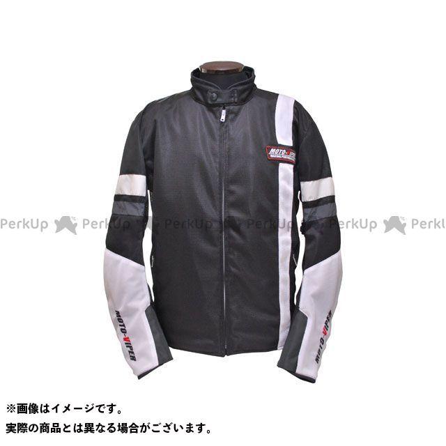 モトバイパー ジャケット MV-12 GAL-NE メッシュジャケット カラー:ホワイト/ブラック サイズ:LL moto-VIPER