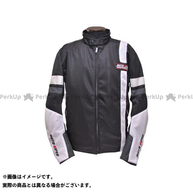 moto-VIPER モトバイパー ジャケット MV-12 GAL-NE メッシュジャケット ホワイト/ブラック 3L