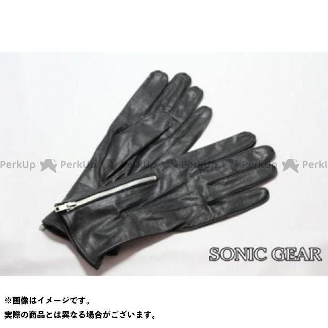 ソニックギア レザーグローブ Classic Racerグローブ(ブラック) M SONIC GEAR