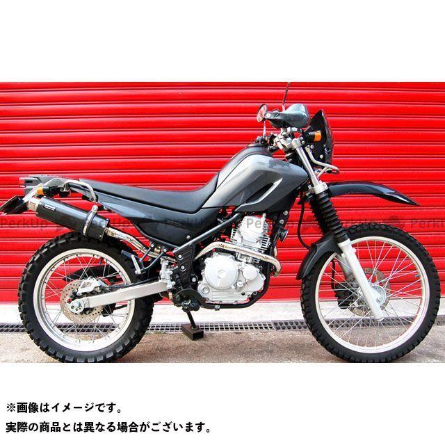 BEAMS セロー250 マフラー本体 SS300 アップタイプ フルエキゾーストマフラー サイレンサー:カーボン ビームス
