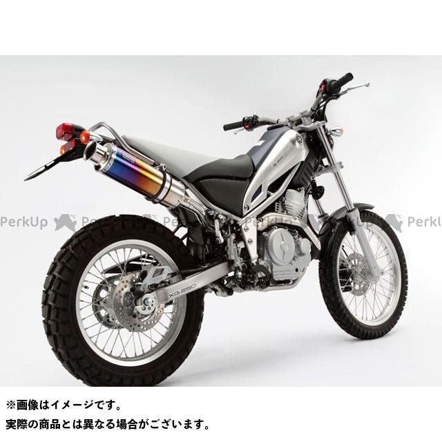 BEAMS トリッカー XG250 マフラー本体 SS300 アップタイプ スリップオンマフラー サイレンサー:チタン ビームス