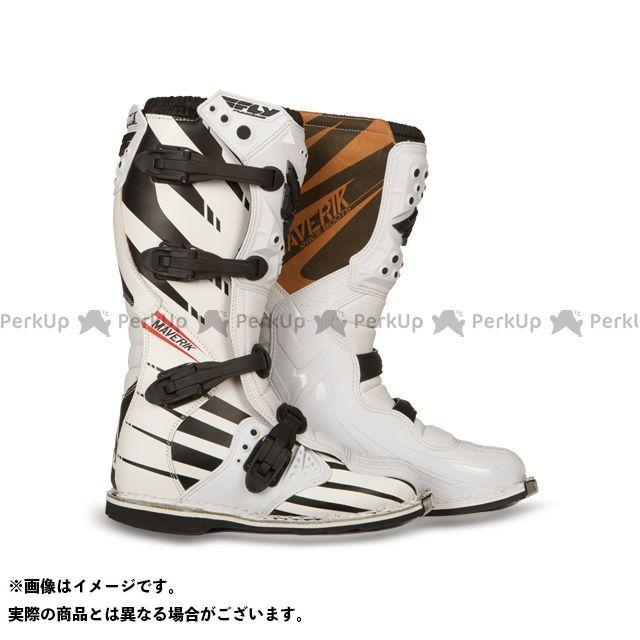フライレーシング オフロードブーツ MAVERIK MX BOOTS F4(WHITE/BLACK) タイプ:アダルト サイズ:US6 FLYRacing