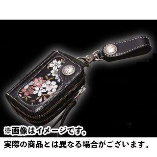 デグナー 財布 花山 K-25K キーウォレット 柄:京桜 カラー:ブラック DEGNER