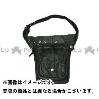 デグナー ツーリング用バッグ W-27 レザーヒップバッグ カラー:ブラック DEGNER