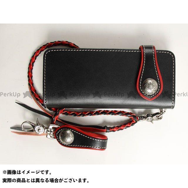 【エントリーで更にP5倍】デグナー 財布 W-33A コンビネーションレザーウォレット カラー:ブラック/レッド DEGNER